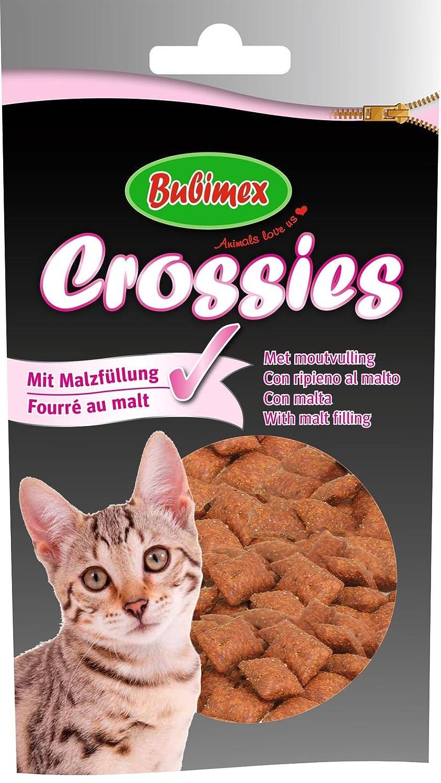 bubimex Crossies Fourrés au Malt Friandise pour Chat 50 g - Lot de 5 904