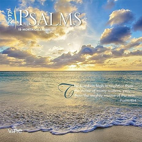 Amazon.com : 2017 Psalms Mini 7x7 Wall Calendar {jg} Great Holiday ...