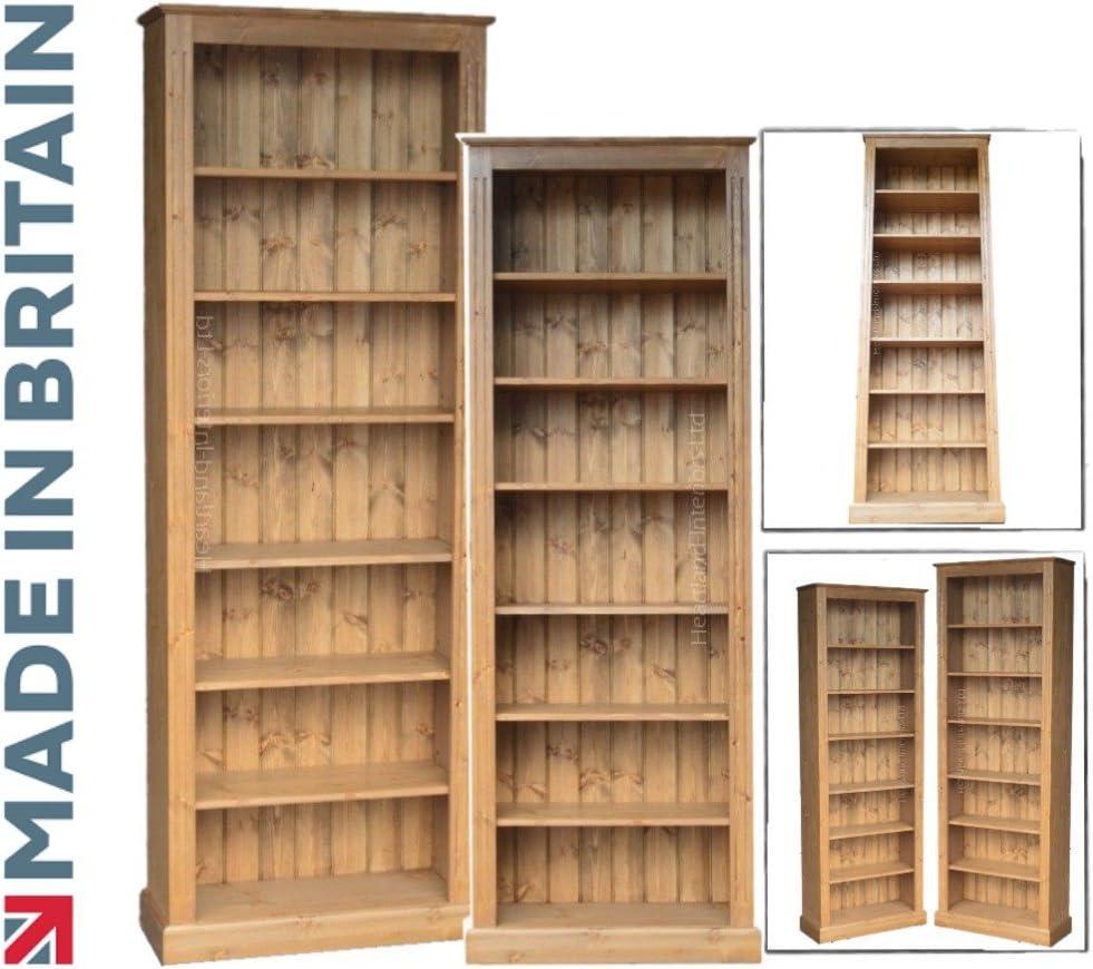 Pino sólido estantería para libros, hecha a mano 213,36 cm x ...