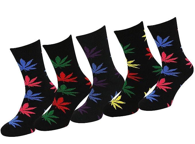 Amazon.com: 5 pares de calcetines de algodón para hombre ...