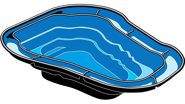 Bassin thermoformé pour étangs 2000 litres Ubbink