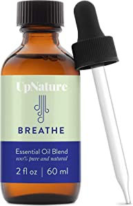 Breathe Essential Oil Blend 2 OZ – Breathe Easy for Allergy, Sinus, Cough and Congestion Relief - Therapeutic Grade, Undiluted, Non-GMO, Aromatherapy with Dropper