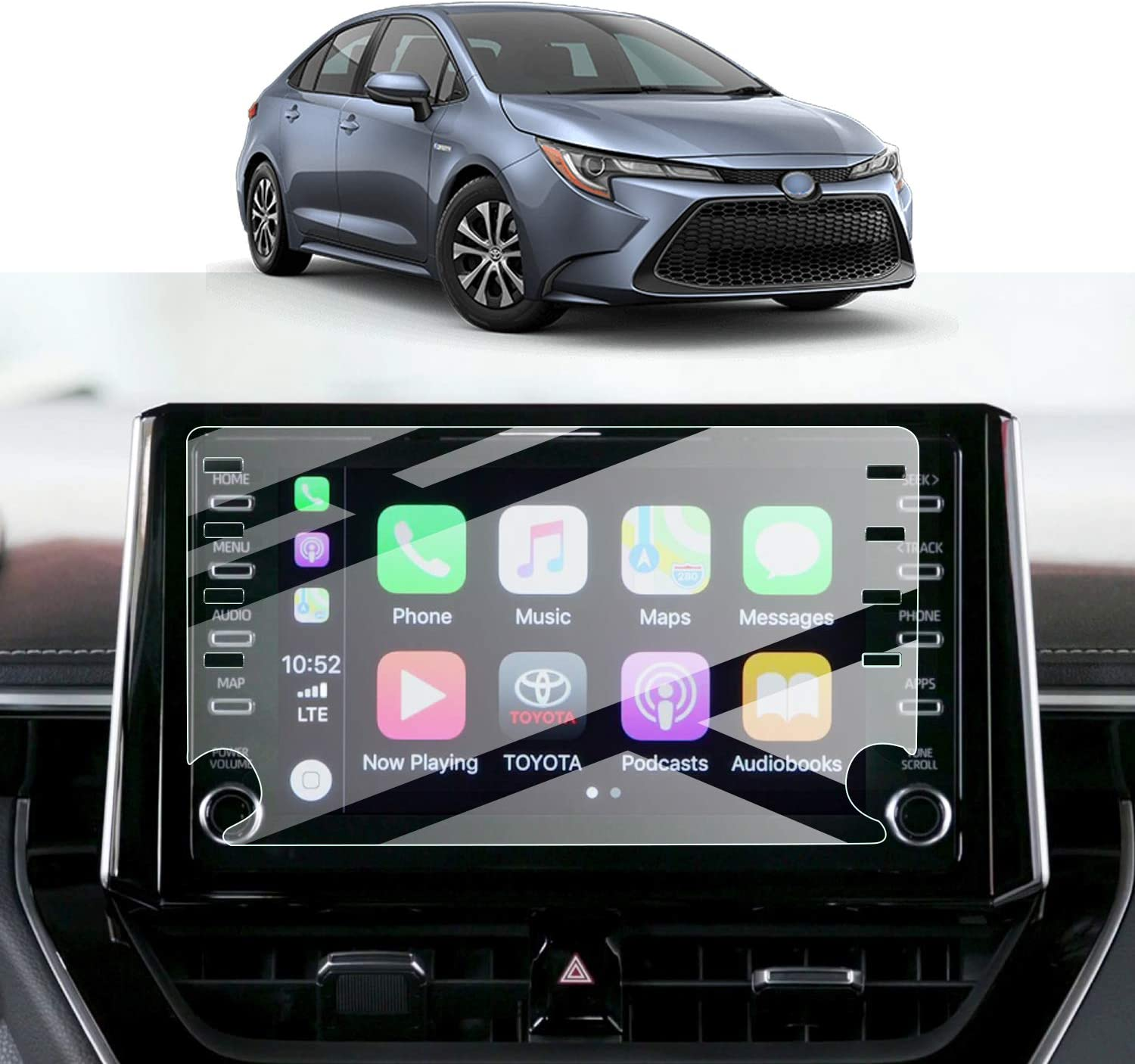 Screen Protector Foils for 2019 2020 Corolla Sports Sedan Hatchback Navigation Display Tempered Glass 9H Hardness Anti-Explosion /& Scratch HD Clear Toyota GPS LCD Protective Film