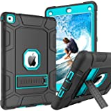 GUAGUA iPad Air 2 Case Kickstand 3 in 1 Hybrid High Impact Rugged Heavy Duty Full-Body Shockproof Drop Protection Shock…