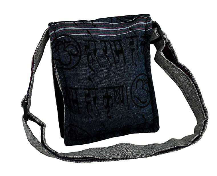 Amazon.com: Cotton Womens Cross Body Bags Small Grey Sugar Skull Lightly  Padded Handcrafted Adjustable Cross Body Bag 7 X 9 X 2 Inches Grey Model ...