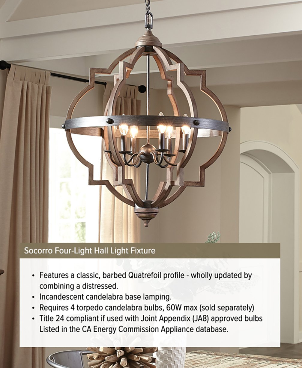 Sea gull lighting 5124904 846 socorro four light hall or foyer light sea gull lighting 5124904 846 socorro four light hall or foyer light fixture stardust finish amazon aloadofball Image collections