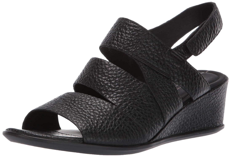Black ECCO Womens Shape 35 Wedge Sandal Wedge Sandal