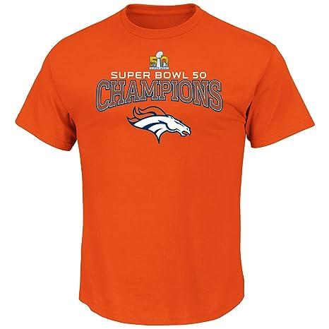 8c7e9688 Majestic Denver Broncos NFL Super Bowl 50 Champions Choice Men's T-Shirt
