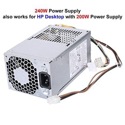 Li-SUN 240W Power Supply Replacement for HP ProDesk 400 600 800 G1 G2  SFF(P/N: 751884-001, 702309-001, 751886-001, 796351-001, 702457-001), Also  Works