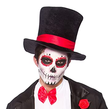 Adulto Negro del sombrero de copa del vestido de lujo de accesorios de  Halloween e7c55dea184