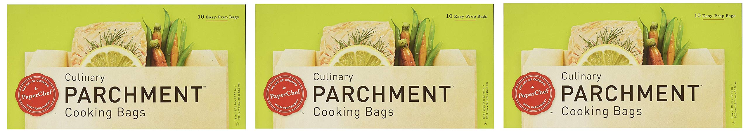 PaperChef Parchment Cooking Bags, 10 Count Box (Pack of 3) (Thrее Рack)