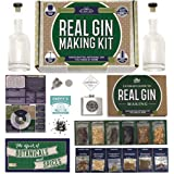 Real Gin Making Kit (Deluxe Edition) w/ Stainless Steel Personalized Flask, For Making Delicious Martinis, Gin and…