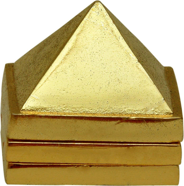Creativegifts 3 Inches Brass Vastu Pyramid
