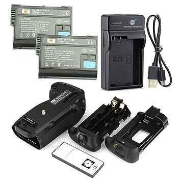 DSTE IR Remote MB-D16H Apretón Batería + 2x EN-EL15 Batería + USB ...