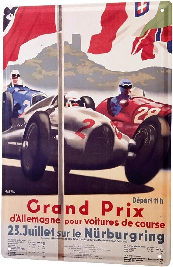 NURBURGRING RACING METAL SIGN RETRO VINTAGE STYLE SMALL shop grand prix racing