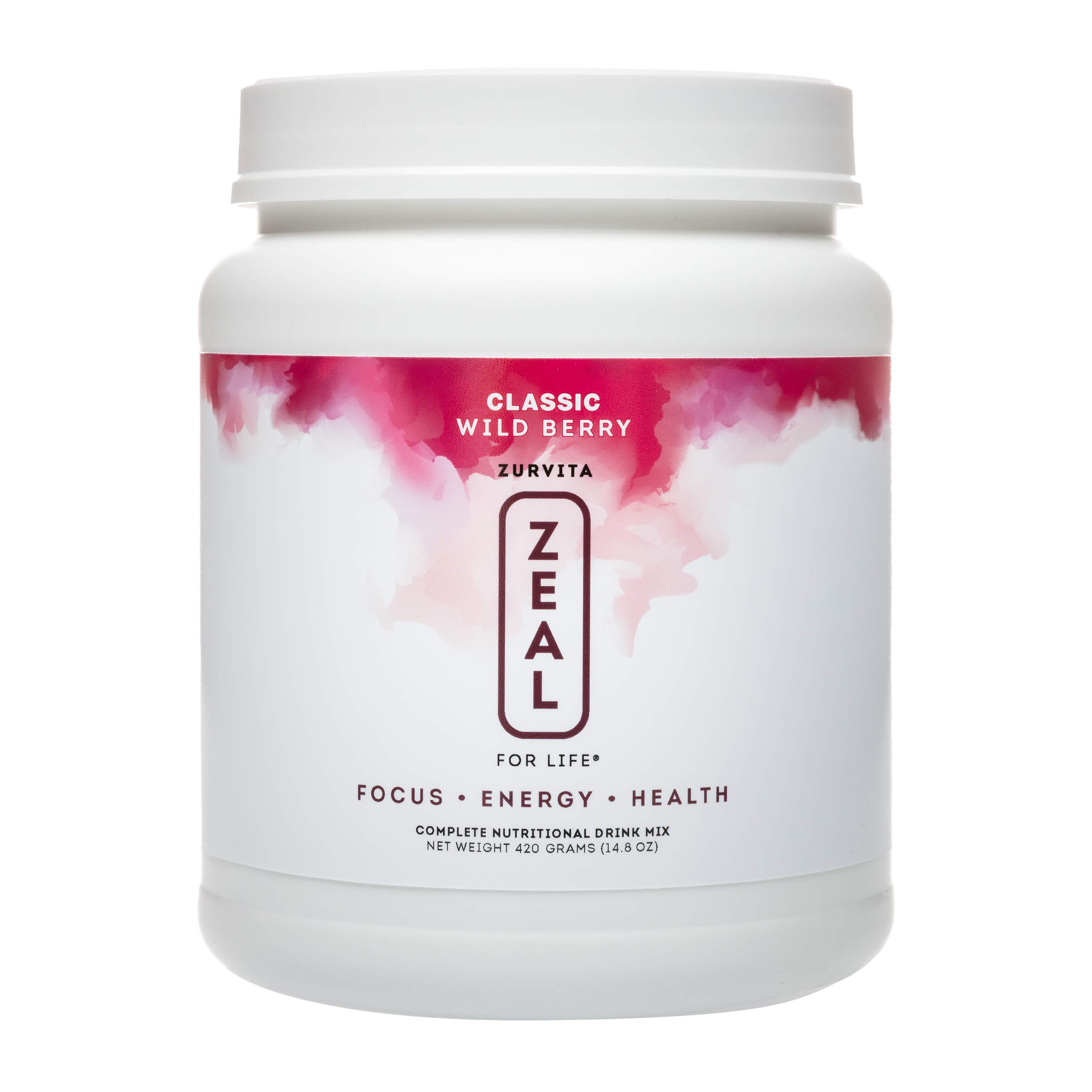 Zurvita Zeal for Life 30-Day Wellness Canister, 420 Grams, Wild Berry (Classic)