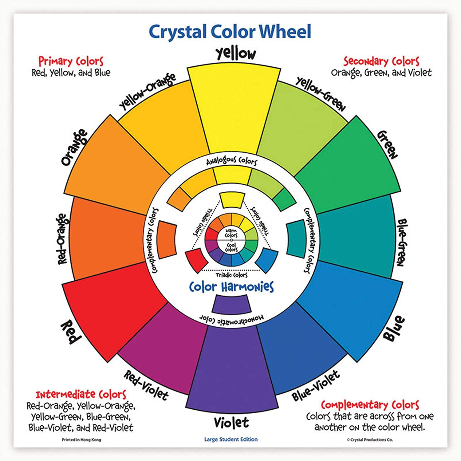 CRYSTAL PRODUCTIONS CO. CRP7230 LARGE STUDENT COLOR WHEEL: Amazon ...