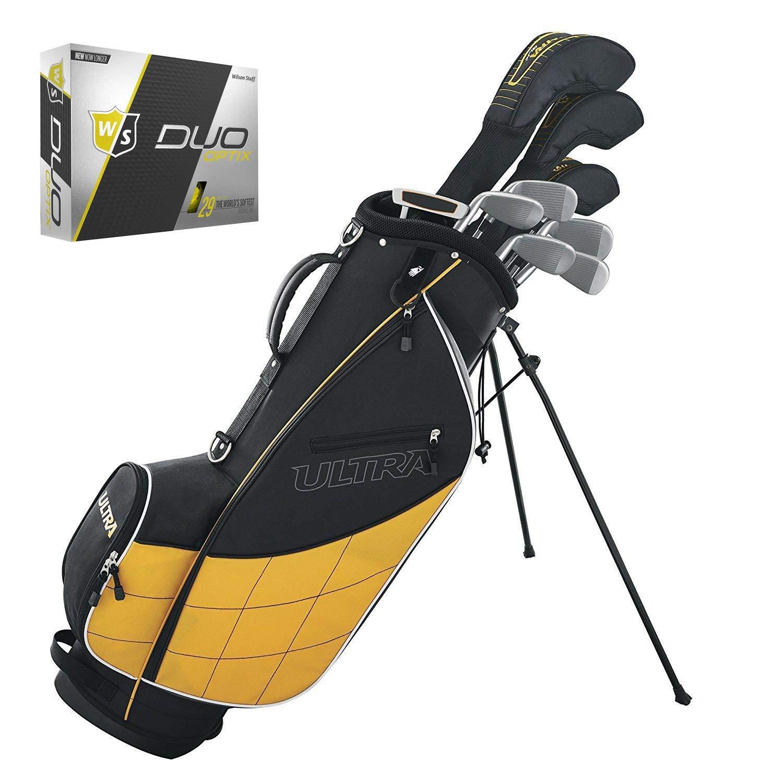 Wilson Ultra Wilson メンズ ゴルフクラブセット Ultra & スタンド スタンド 右利き用 イエローウィルソン WGWP40150 スタッフ デュオ ソフトオプション エレクトリックグローイエロー ゴルフボール 12個 B07H8R6GJ6, ALEX PC:56d145aa --- cooleycoastrun.com