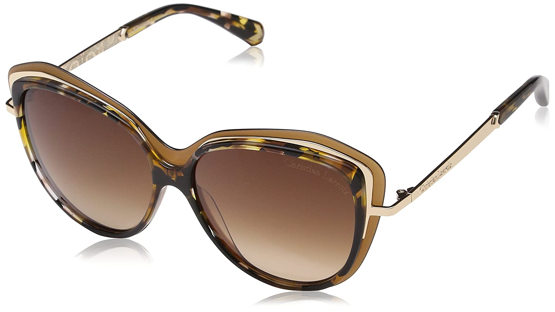 Christian Lacroix CL5069 Gafas de sol, Marrón (Ambre Multi), 55 para Mujer