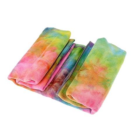 FLAMEER Sudor Portátil Dry Quicker Yoga Antideslizante Mat Bailando con Toalla Entrenamiento Pilates Blankets Pad 25x72