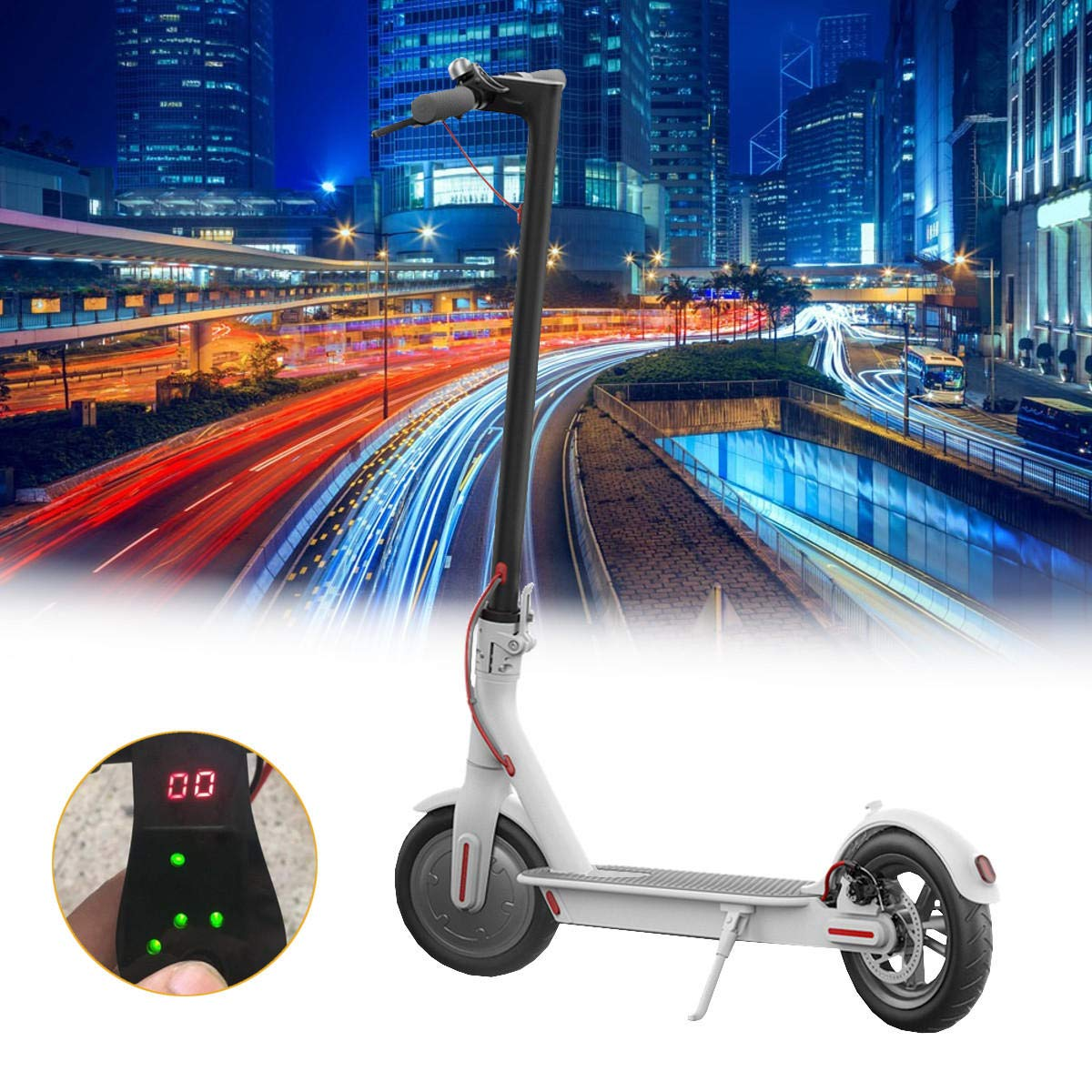 Freelance Shop Sport ALFAS Display 4.4AH/7.8AH Battery Foldable Electric Scooter(No-app Verison) - B White