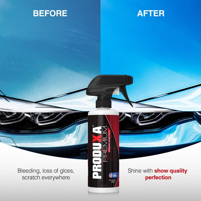 PRODUXA Premium Super Gloss & Ultra Hydrophobic Shine Spray: Revolutionary Paint Polish & Sealer | Multi-Surface Top Coat for Car, Bike & Boat | Applies in Minutes, Long Lasting & Streak-Free | 2 KIT by PRODUXA (Image #4)