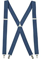 """Suspenderss for Women USA Manufactured Elastic X-back Adjustable Straight Clip on - Sizes 46"""" and 54"""" (Many Styles and Color Options)"""