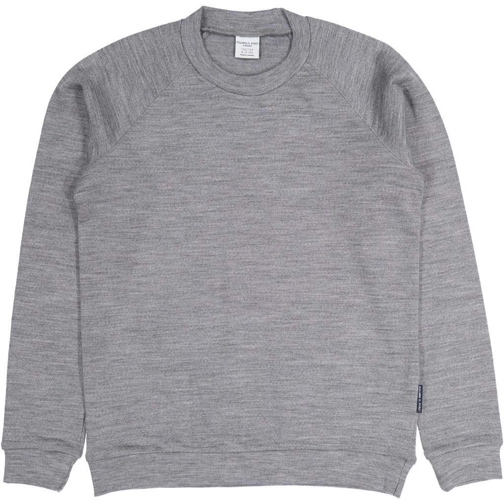 Polarn O. Pyret Wool Terry Pullover Sweater (6-12YRS) - Grey Melange/10-12 Years by Polarn O. Pyret