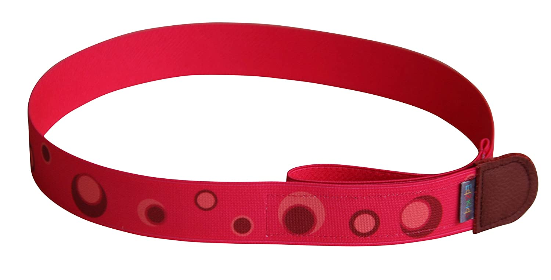 Ed& Kids Kindergürtel ohne Schnalle Punkte rot Mädchen elastisch größenverstellbar Made in Germany