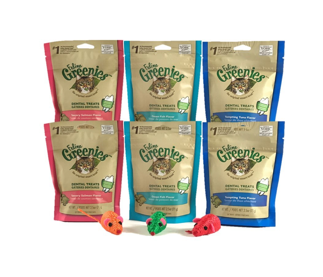 Feline Greenie for Cats Variety-6 Pack 3 Cat Toys