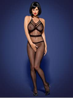 2988f12a654 Obsessive Bodystocking N115 Women s Sexy Bodystocking Halterneck Net  Crotchless Transparent Adult