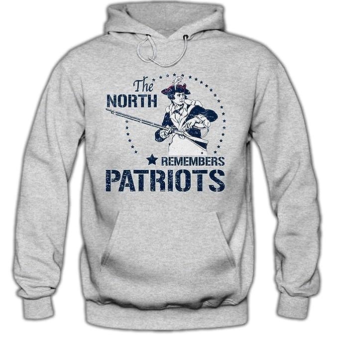 Shirt Happenz The North Remember #1 Hoody | The North Rememver # 1 | el Fútbol Americano | patriotas | Massachusetts | Hombres | Sudadera con Capucha: ...