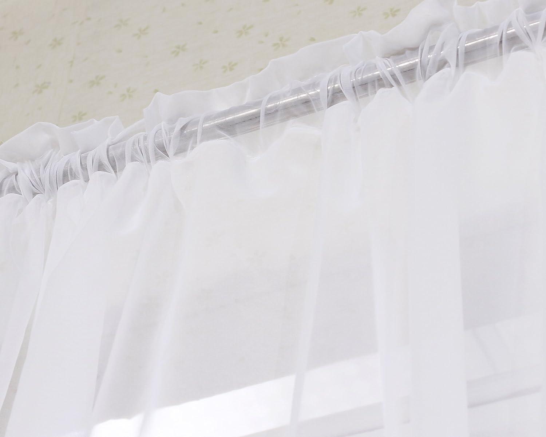 2er Set Gardinen Vorh/änge transparent mit Kr/äuselband Stores f/ür Schiene 140x175 cm Wei/ß WOLTU VH5516ws-2 Doppelpack Fensterschal Voile f/ür Wohnzimmer Schlafzimmer Kinderzimmer Landhaus