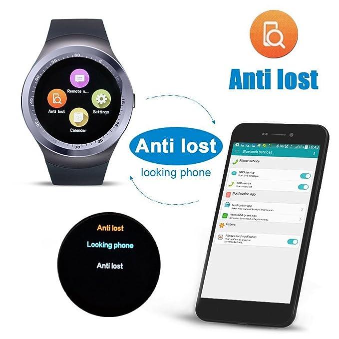 yobeso Y1 Bluetooth SmartWatch táctil Protector de apoyo SIM ...