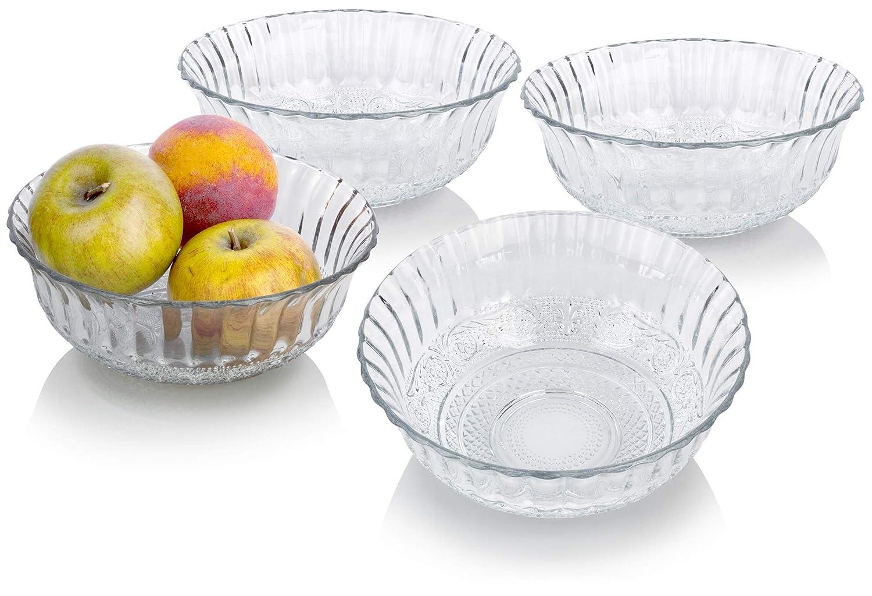 Decorative Clear Glass Bowls.Amazon Com Decorative Clear Glass Bowls 7 5 Inch Top