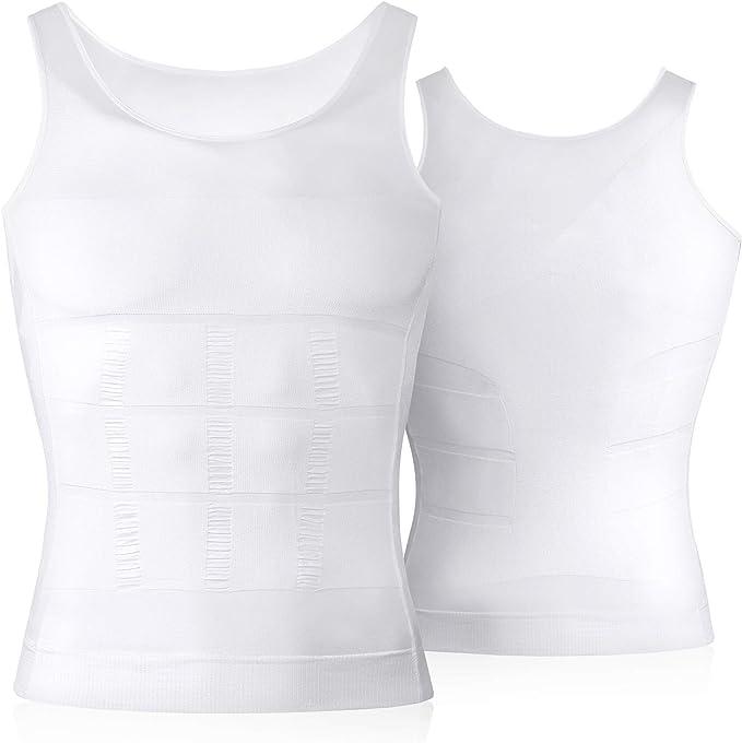 TALLA S. VENI MASEE Mens dimagrante Body Shaper Vest/Shirt Abs addome Slim, prezzo/Pezzo dimagrante Vest Marca su Amazon USA