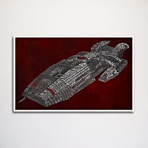 "Battlestar Galactica word art print 11x17"" unframed 