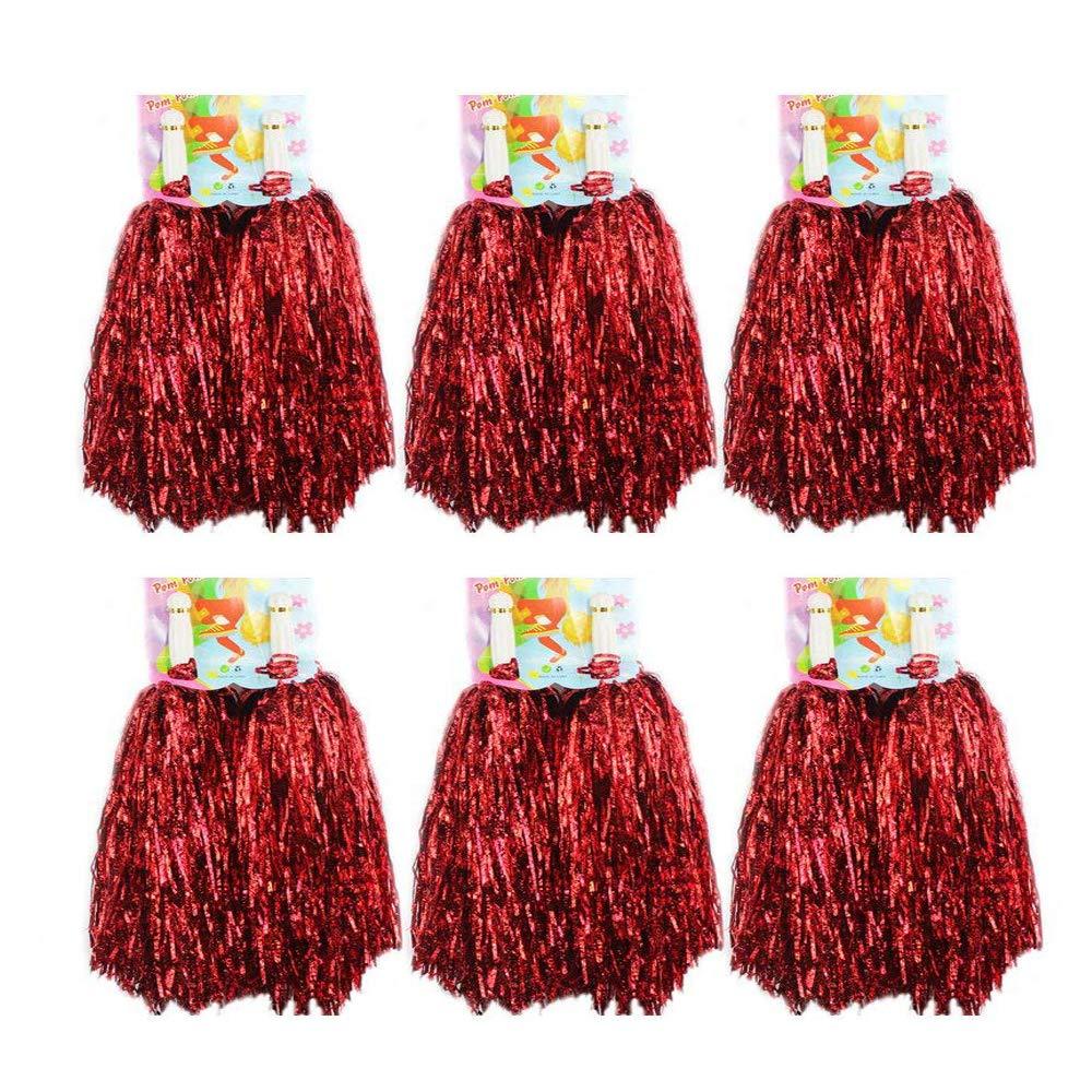 1docena de pompones Crivers, 12 pompones de animadora para bailar y deportes