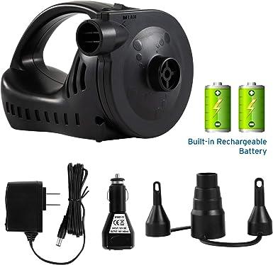 Amazon.com: Etekcity Bomba de aire para inflar colchones ...