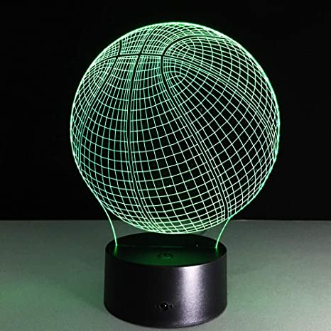7Color 3D baloncesto LED luz de noche lámpara de mesa ...