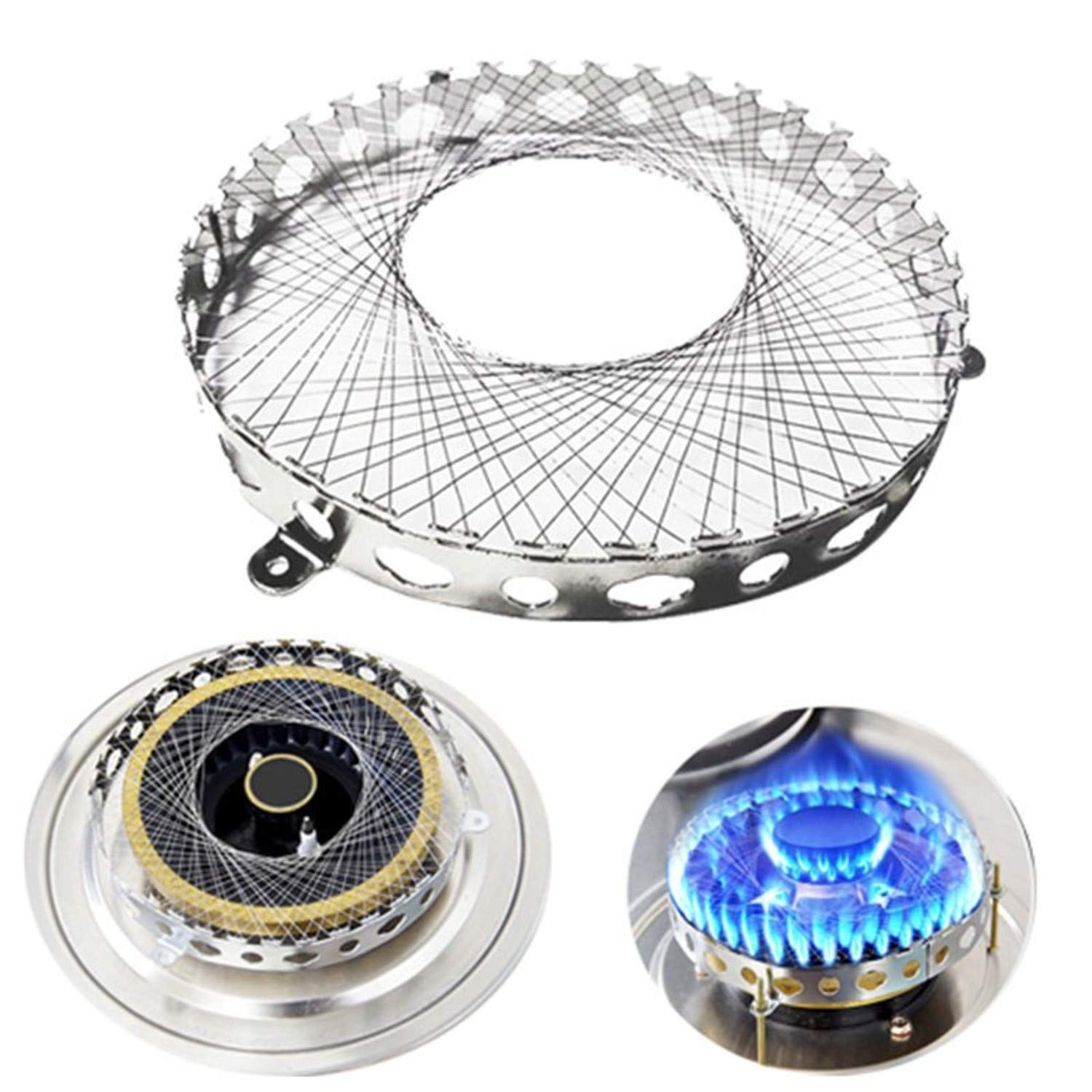 TSG GLOBAL Gas Stove Torch Net Stainless Steel Gas Cooker Windproof Energy Saving Circle Cover Case Mesh Kitchen Accessories 8