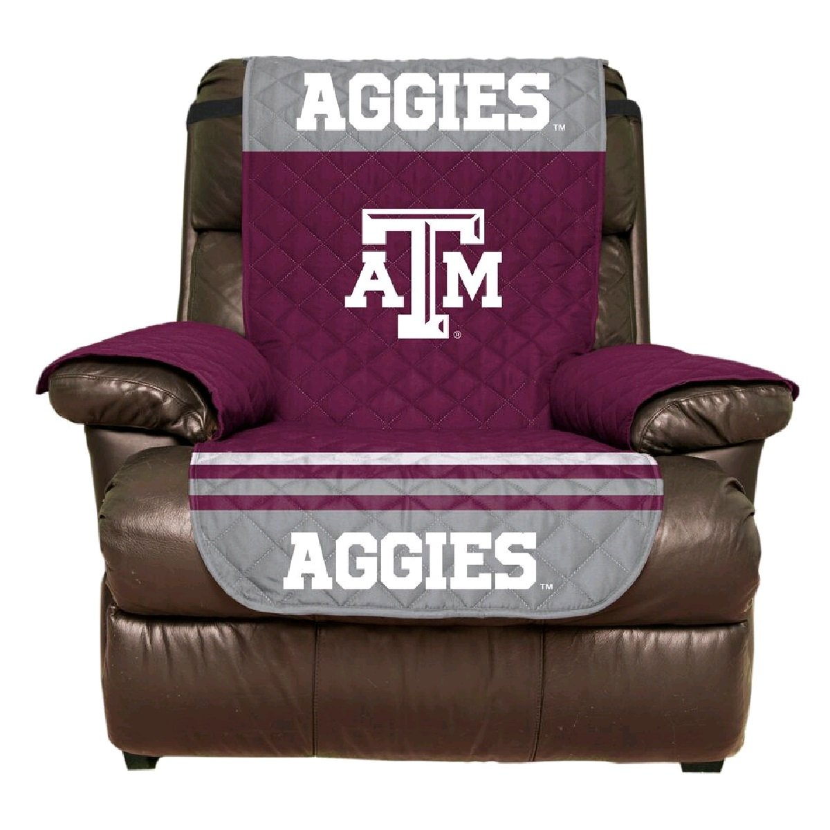 Reversible Couch Cover - College Team Sofa Slipcover Set / Furniture Protector - NCAA Officially Licensed (Recliner, Texas A&M Aggies)