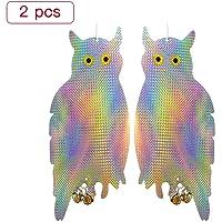 Sponsi Patrocinador 2Pcs Fake Owl Bird Scare Repelente