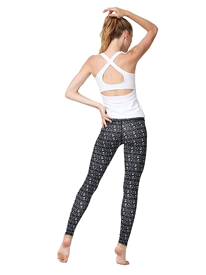 7cd0563cce671 Amazon.com: MUMUWU Women Yoga Pants High Waist Sport Workout Running Power  Flex Yoga Leggings Printed Dragonfly S: Clothing