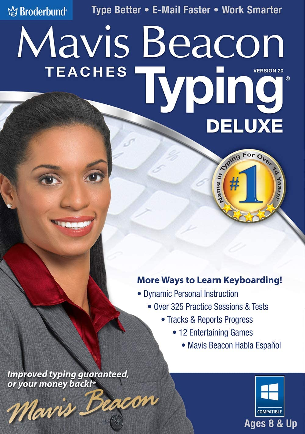 Mavis Beacon Teaches Typing Deluxe 20 [PC Download] 71QSz3qrA7L