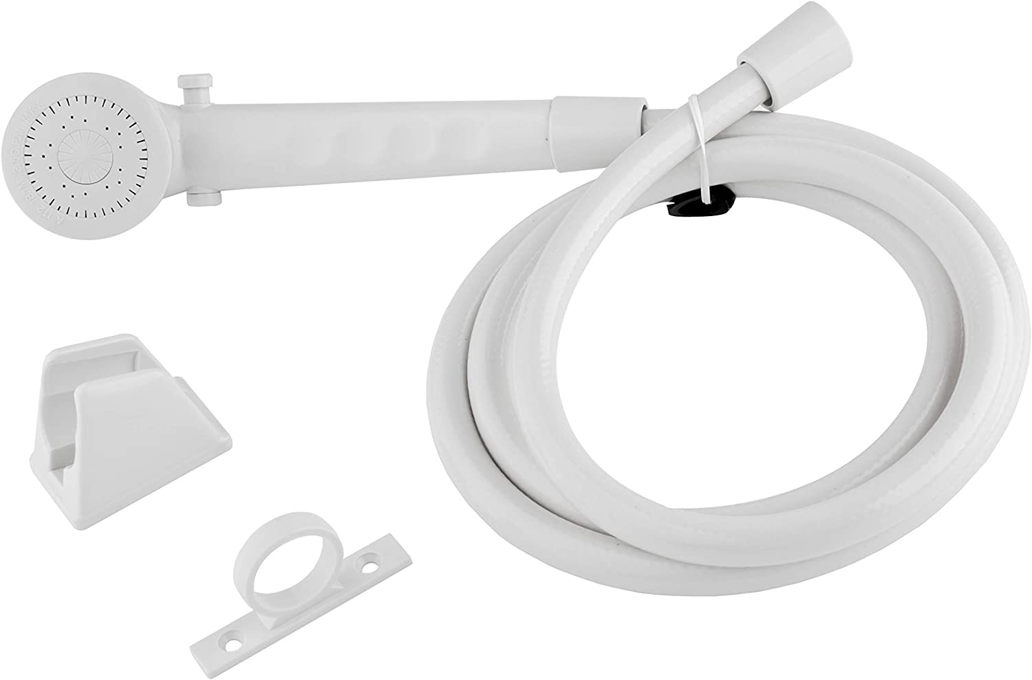 Dura Faucet DF-SA130-WT RV Shower Head and Hose Kit (White)