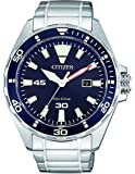 Citizen 西铁城 男士指针式石英手表不锈钢表链 BM7450-81L