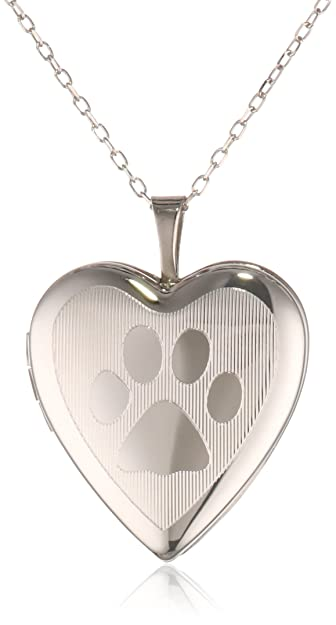 length silver grams p rhodium weight oval mm polished locket width sterling print paw satin plated lockets