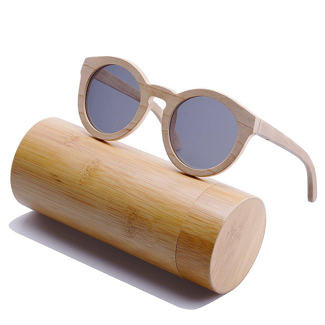 2c23d92183 BEWELL Gafas de Sol Madera Mujer, G002A Wood Sunglasses Polarized UV ...