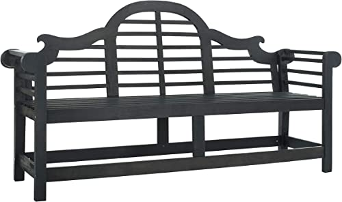 Safavieh PAT6705K Outdoor Collection Khara Grey Bench